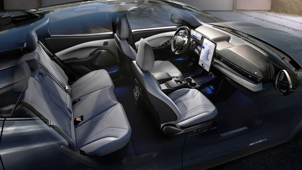 Ford Mustang Mach E cabin dashboard seats