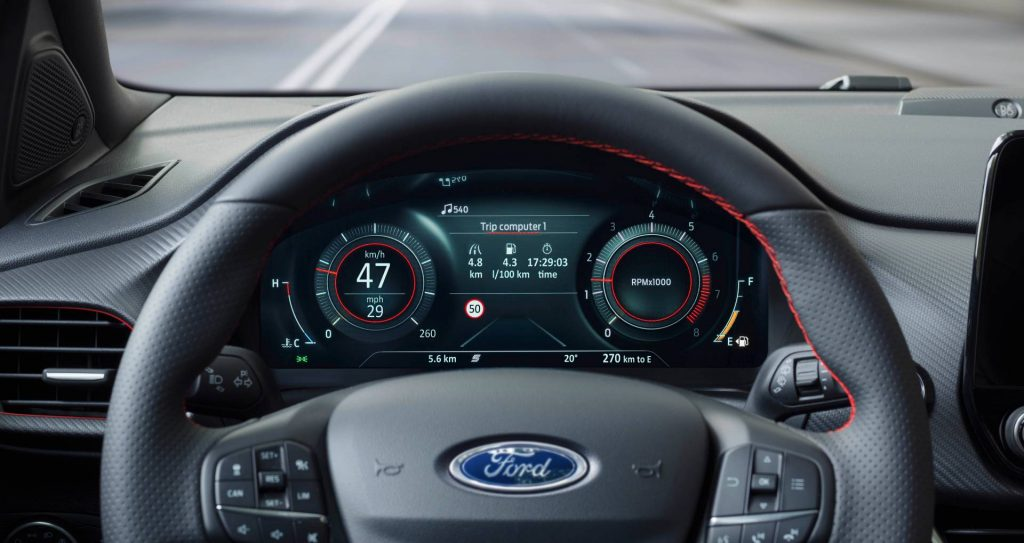 Ford Puma digital instrument cluster