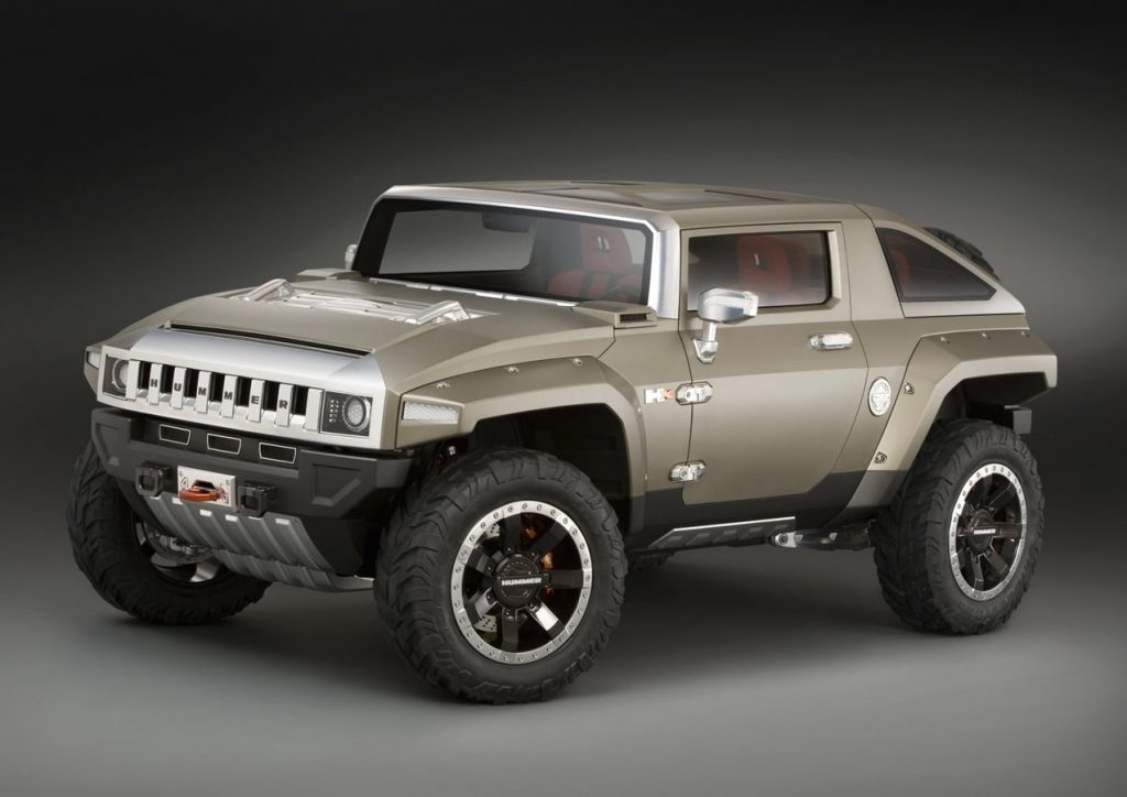 Hummer HX Concept front three quarters press image