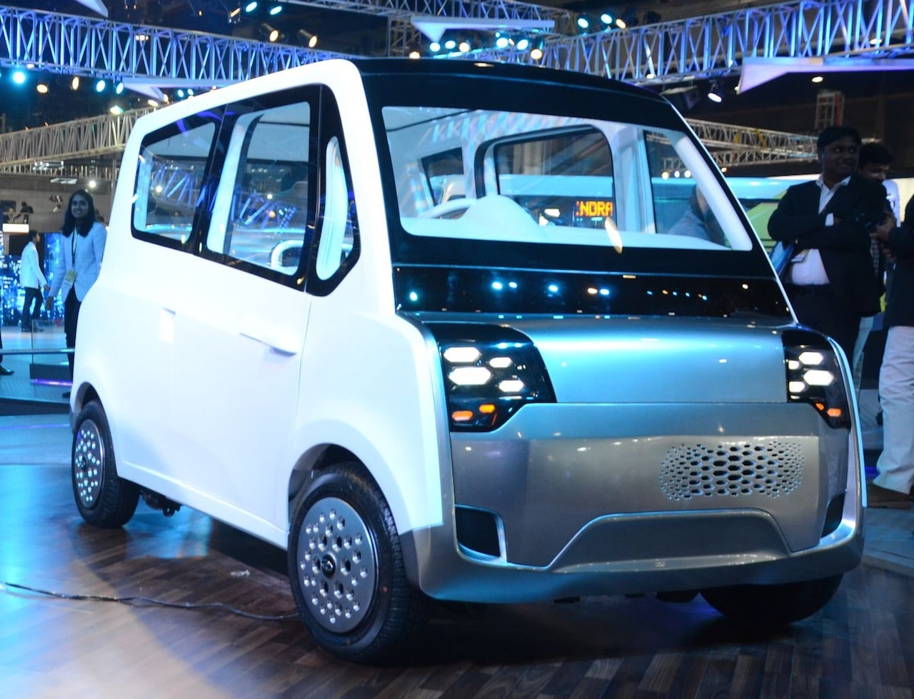 Mahindra ATOM electric quadricycle concept at Auto Expo 2018