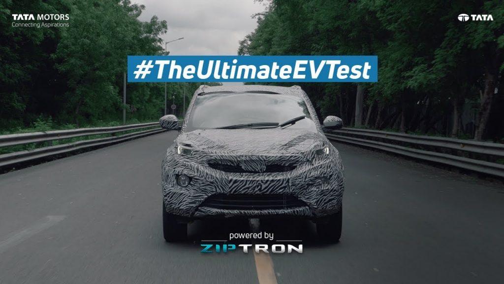 Tata Nexon electric teaser front