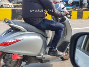 Bajaj Chetak electric scooter spied testing