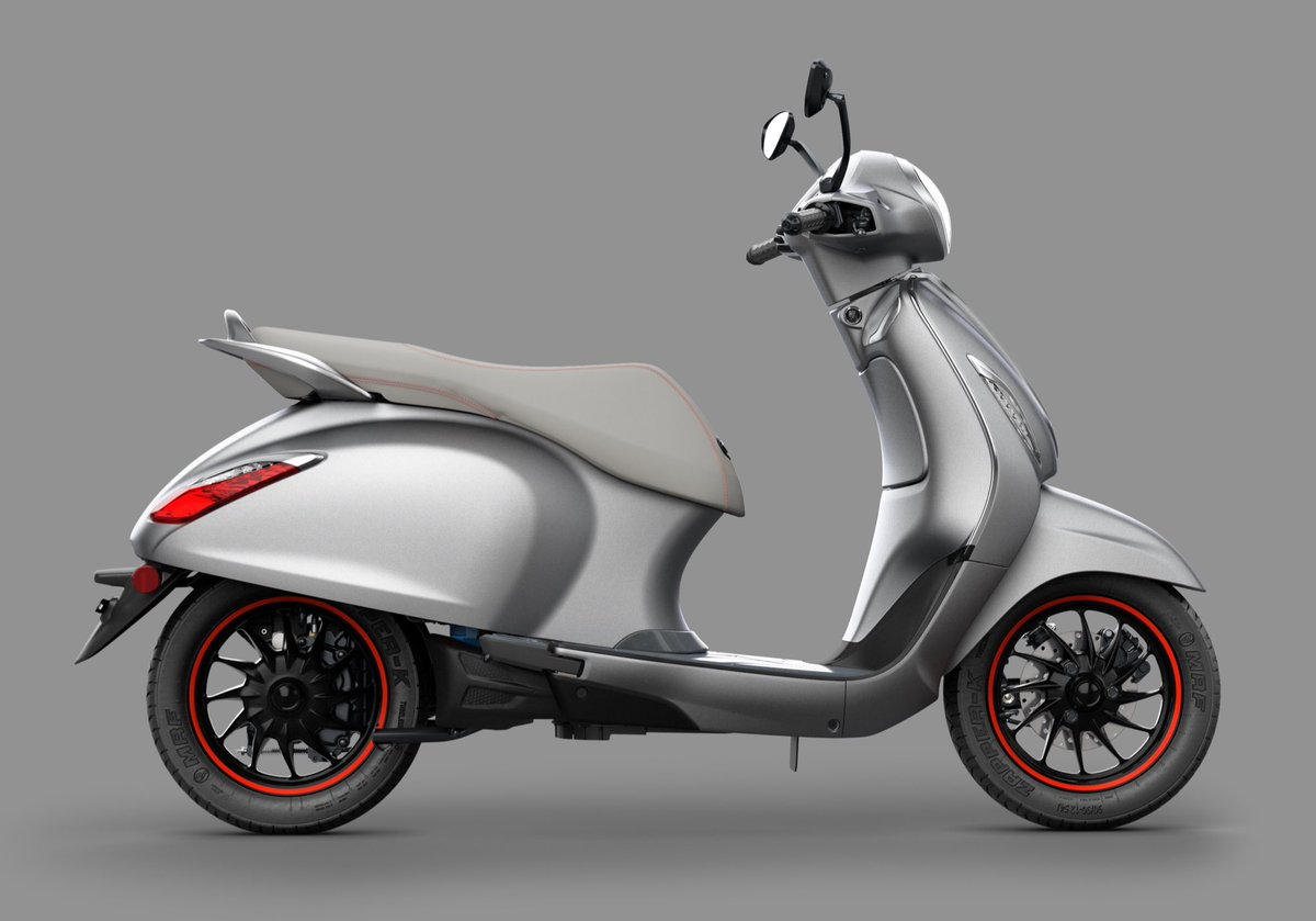 Bajaj Chetak side official image