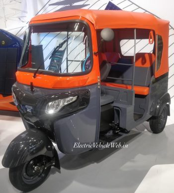 Bajaj electric autorickshaw on the slow lane following pandemic