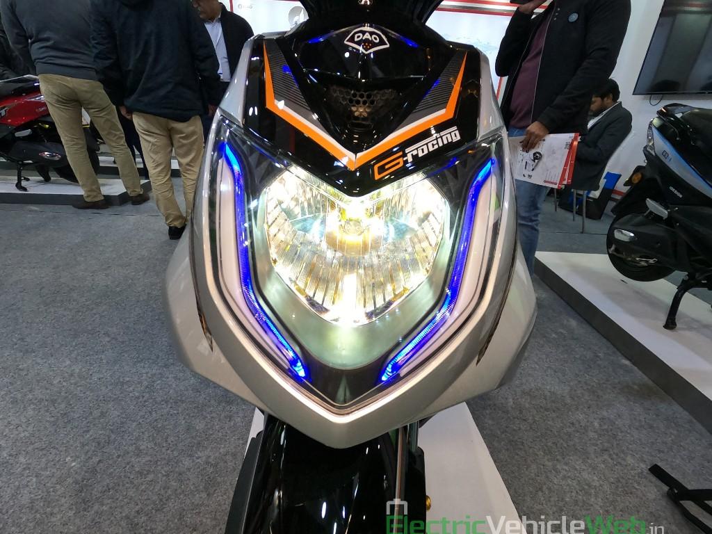 DAO EVTech GT electric scooter headlight