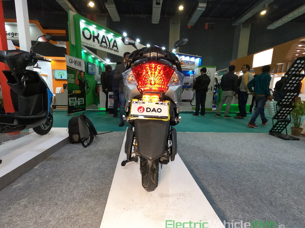 DAO EVTech GT electric scooter rear