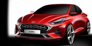 Hyundai Aura sketch
