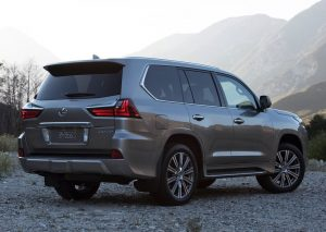 Lexus LX rear three quarter press image