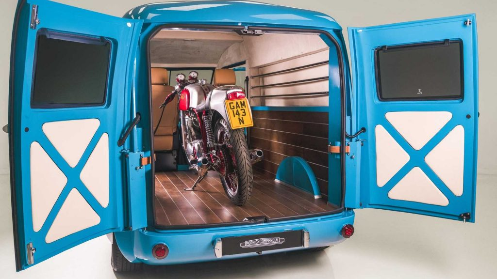 Morris JE electric van cargo payload from Morris Commercial