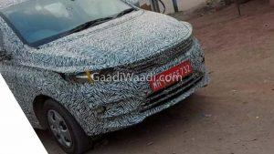 New 2021 Tata Tigor EV facelift front spy shot