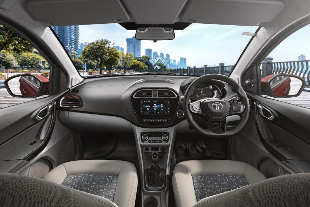 New Tata Tigor facelift interior dashboard