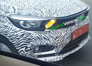 Nose of the 2020 Tata Tigor (facelift)