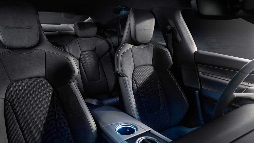 Porsche Taycan seats press image