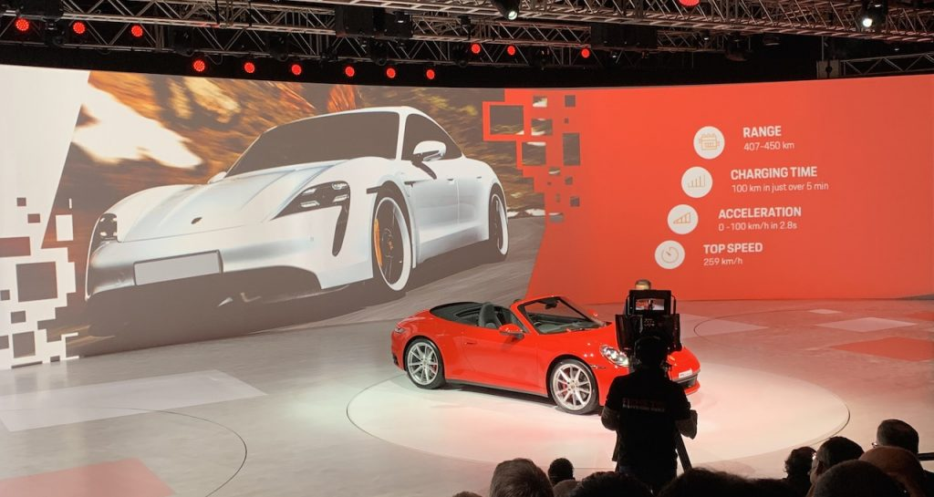 Porsche Taycan teased at VW Media Night 2020 India