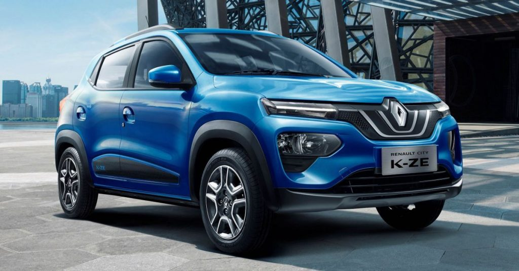 Renault K-ZE (Kwid electric) for China front