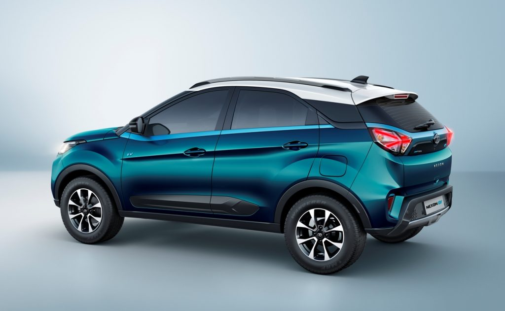 Tata-Nexon-EV-rear-three-quarter-view