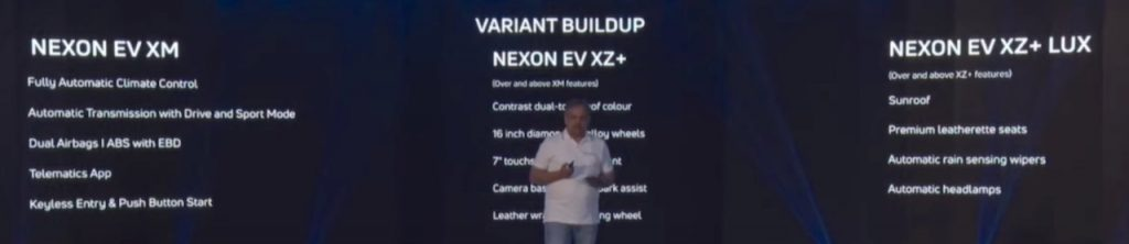 Tata Nexon Electric Variants
