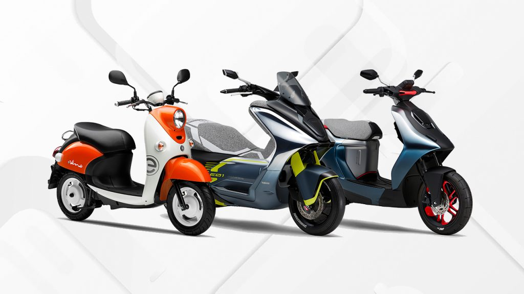 Yamaha electric scooters at Tokyo Motor Show 2019