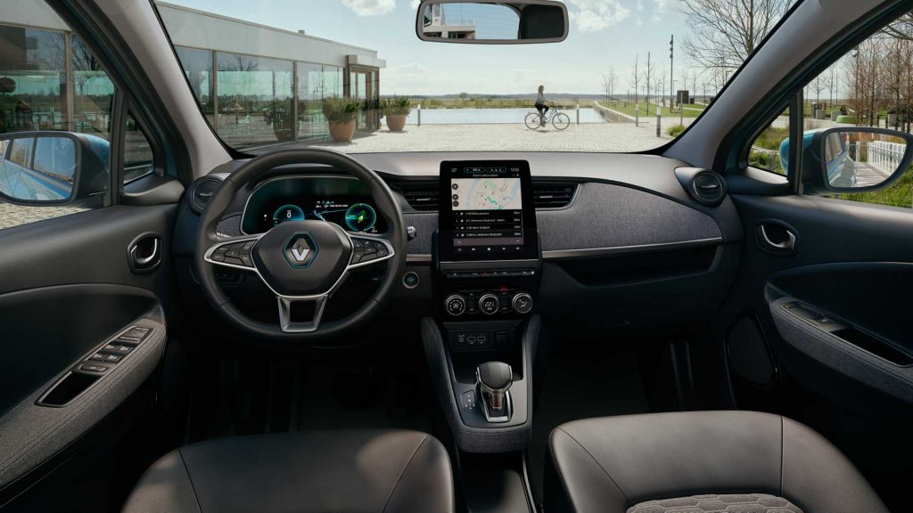 2019 Renault Zoe interior press image
