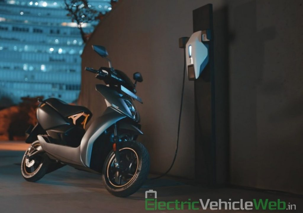 Ather 450X charging Ather Grid