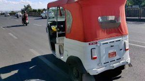 Bajaj RE electric autorickshaw spotted on test