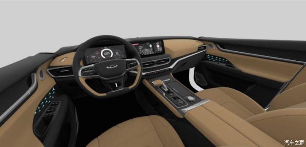 Chery eQ5 electric car SUV interior