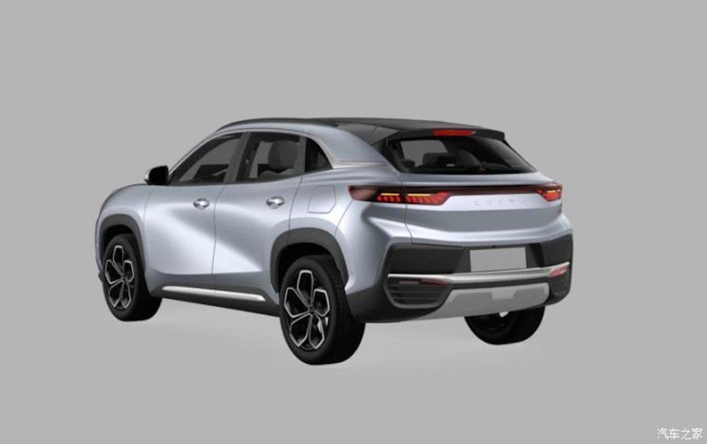 Chery eQ5 electric car SUV rear