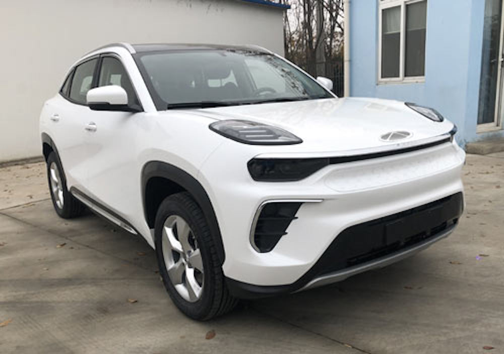 Chery eQ5 production model electric SUV front