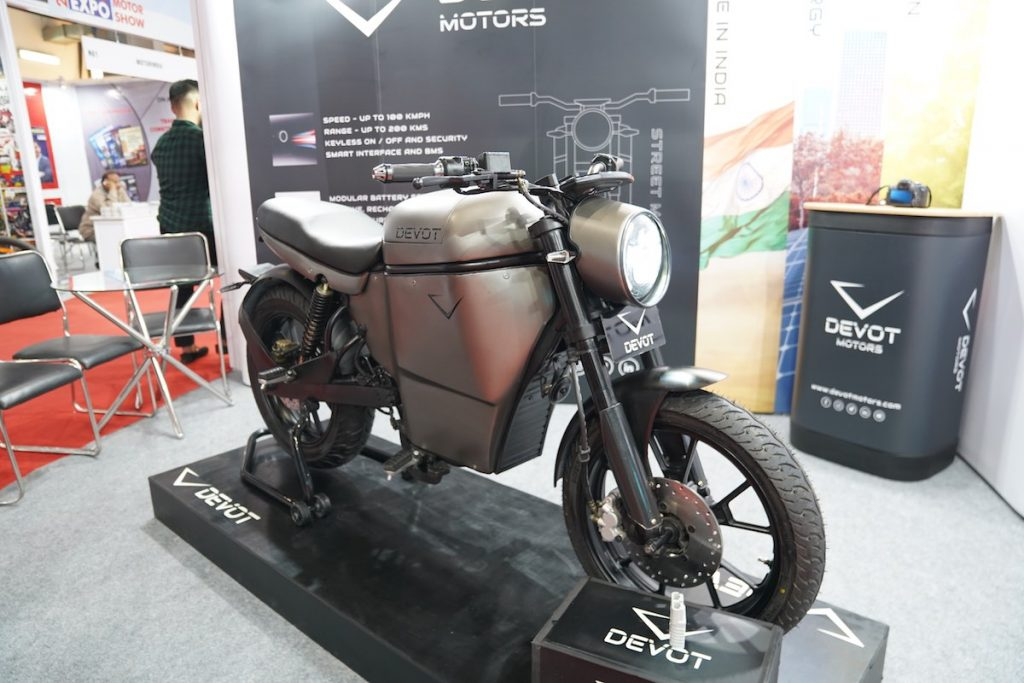 Devot Motorcycle prototype at Auto Expo 2020