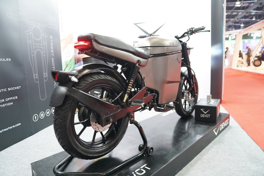Devot Motorcycle prototype rear three quarters