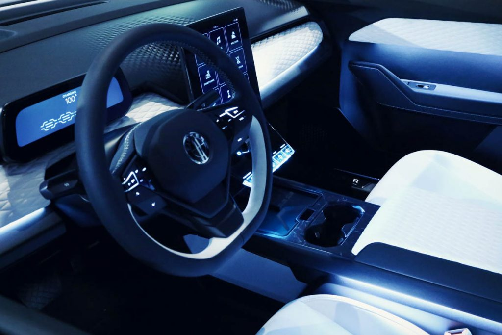 Fisker Ocean interior official image