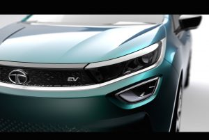 Grille of the Tata Altroz EV concept