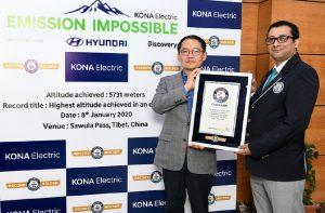 Hyundai Kona Guinness Record