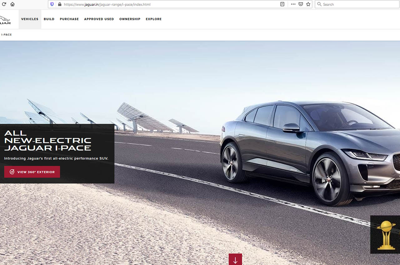 Jaguar I-Pace Website
