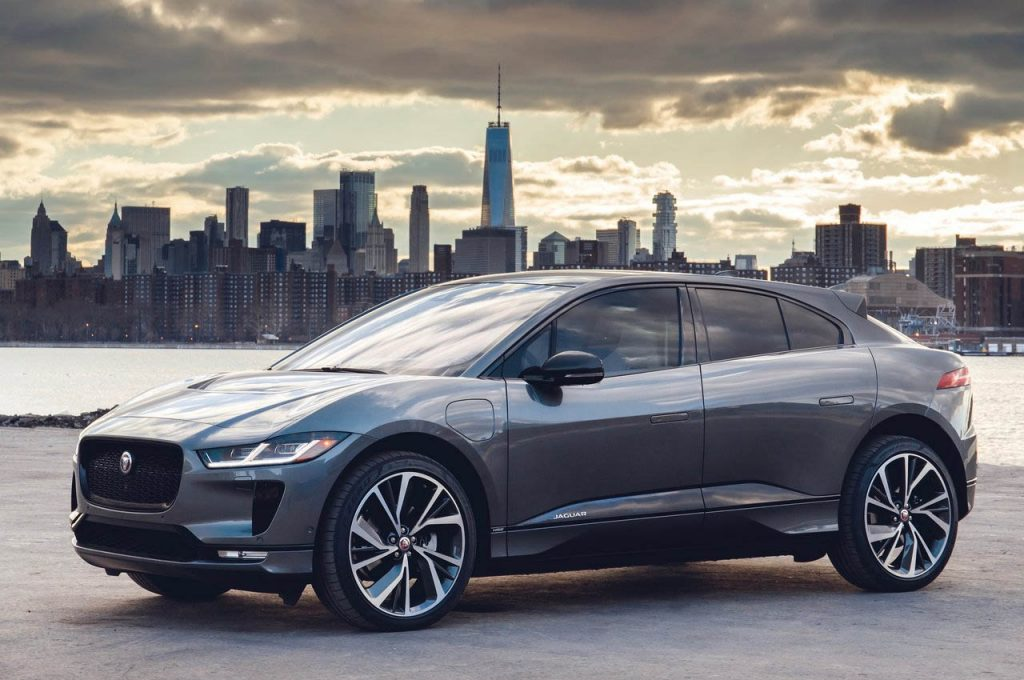 Jaguar I-Pace front three quarter view