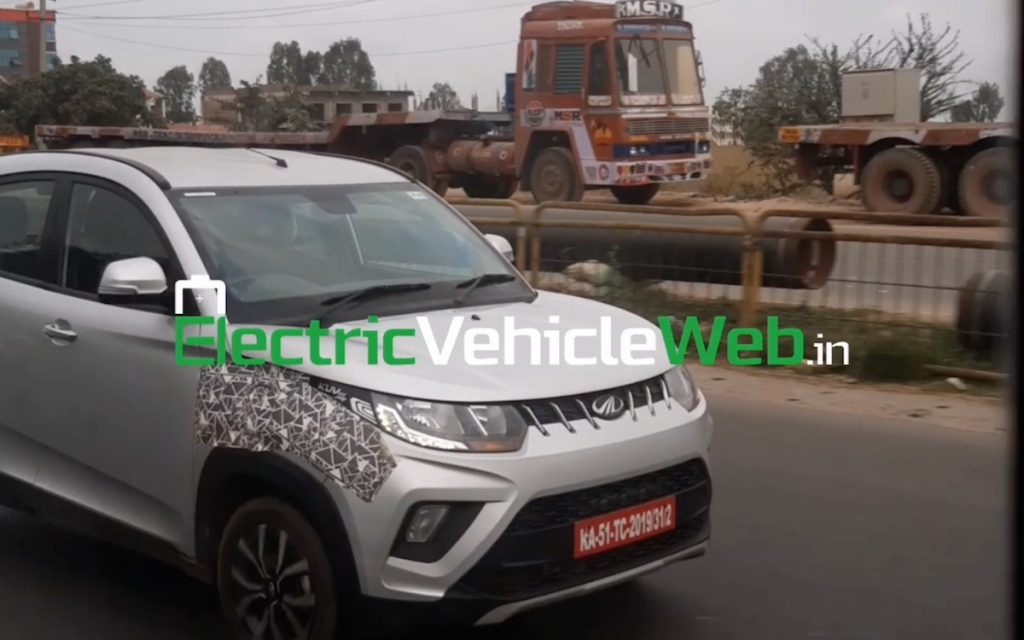 KUV100 electric 9 lakh price spotted on test