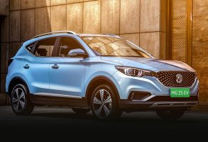 MG ZS EV front three quarter view 2201