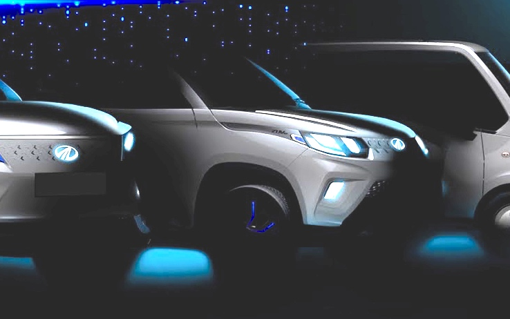Mahindra KUV100 electric teaser screenshot