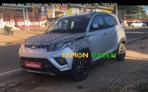 Mahindra KUV100 electric version testing Chennai