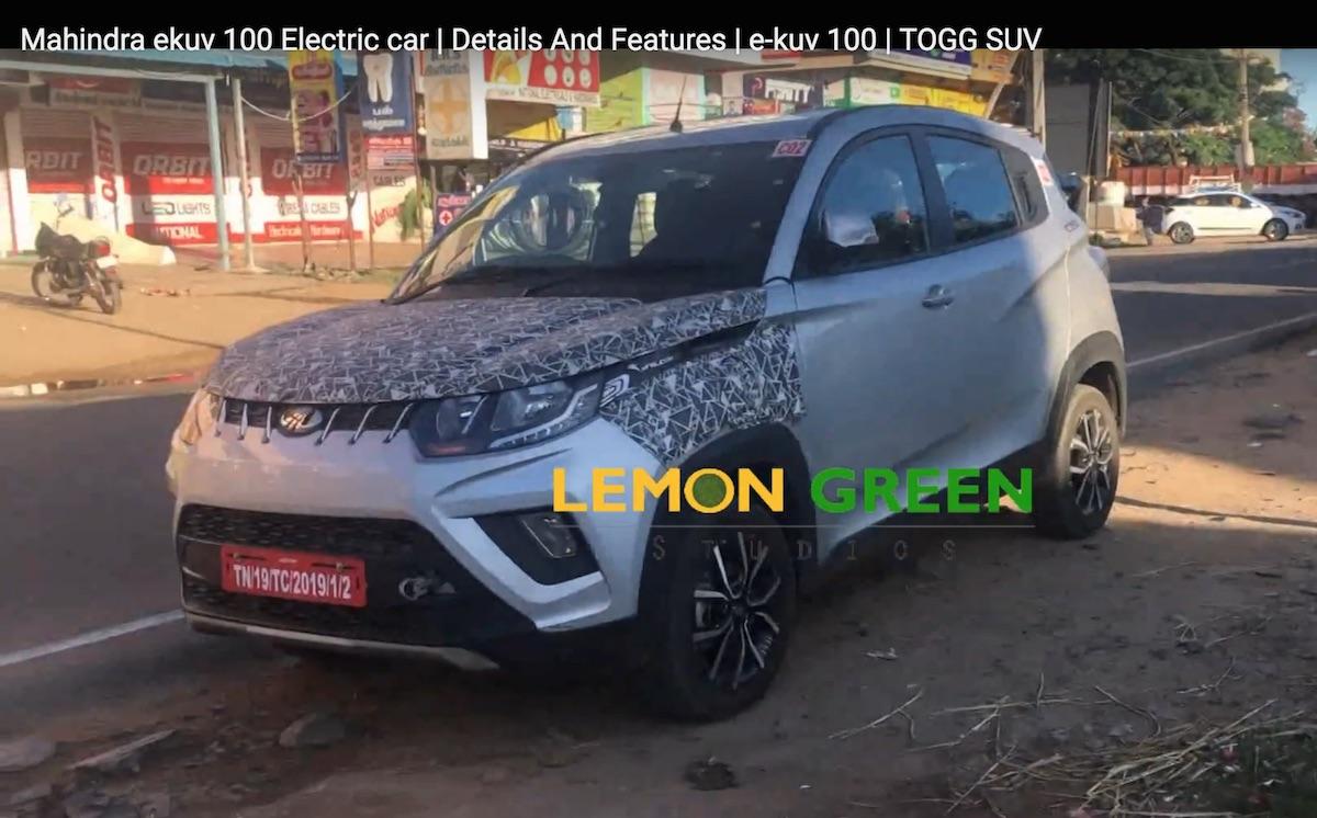 Mahindra KUV100 electric version testing Chennai