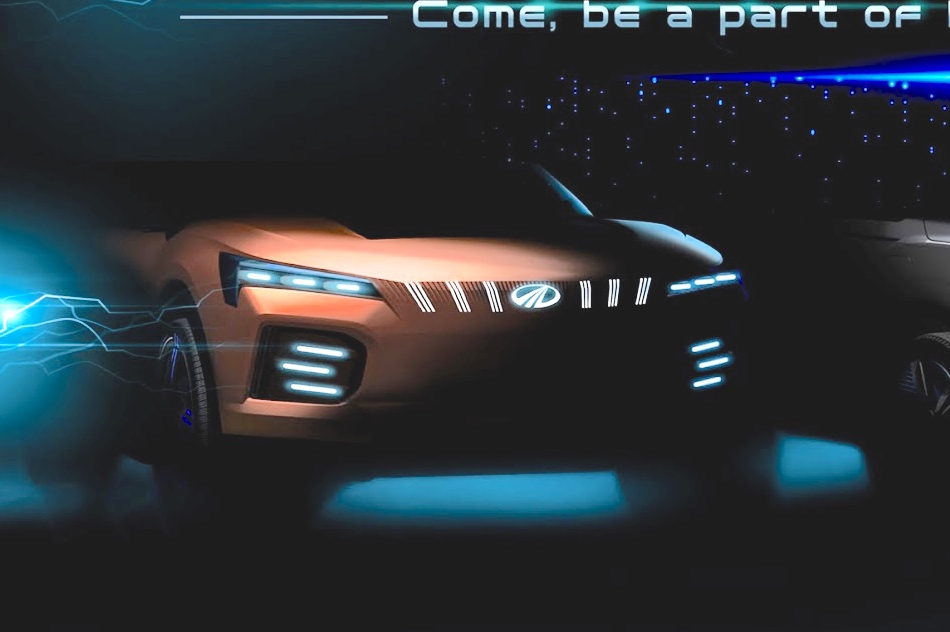 Mahindra XUV electric concept 2020 Auto Expo teaser