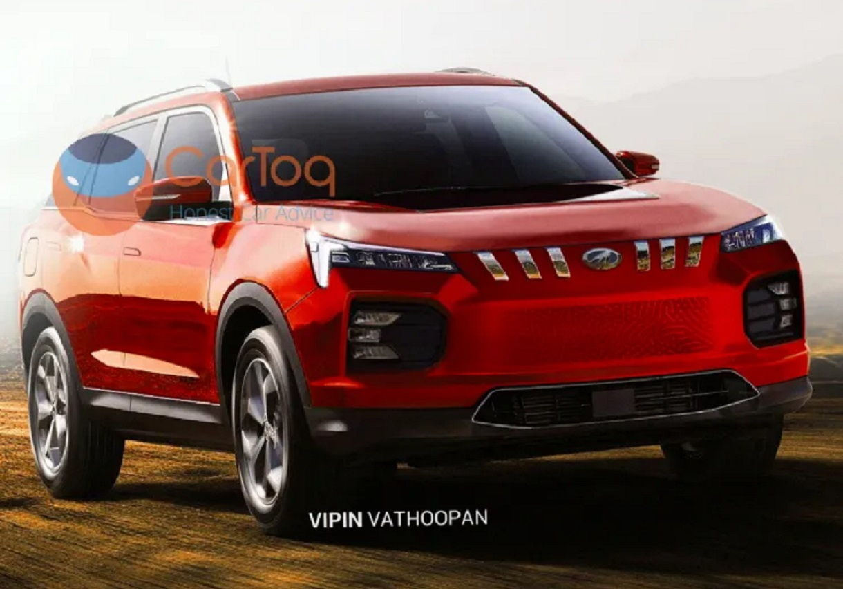 Mahindra XUV500 electric render
