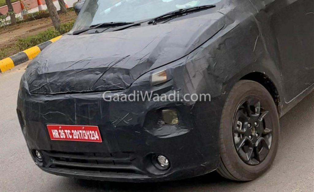 Maruti Suzukii Wagon-R EV spied 02