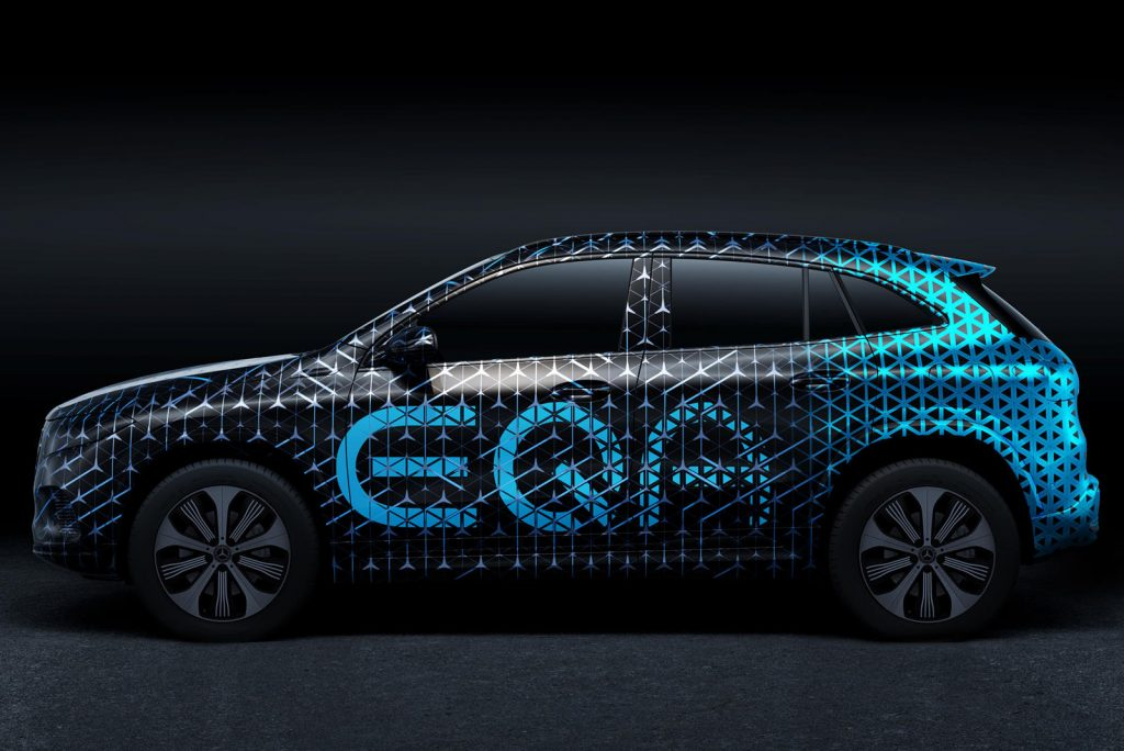 Mercedes EQA production electric SUV teased