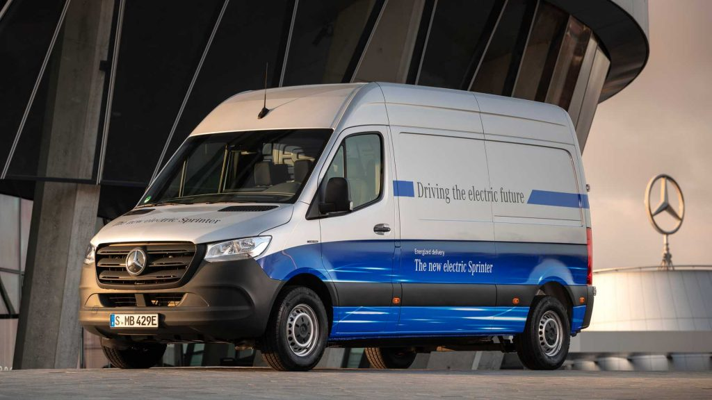 Mercedes Sprinter van electric