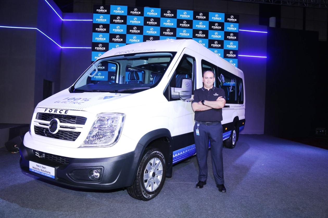 Mr. Prasan Firodia-MD Force Motors Ltd with the new vehicle platform