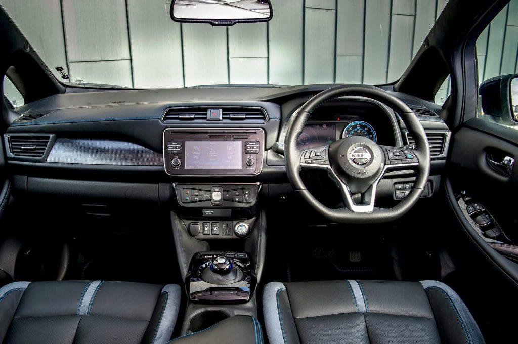 Nissan Leaf EV interior view