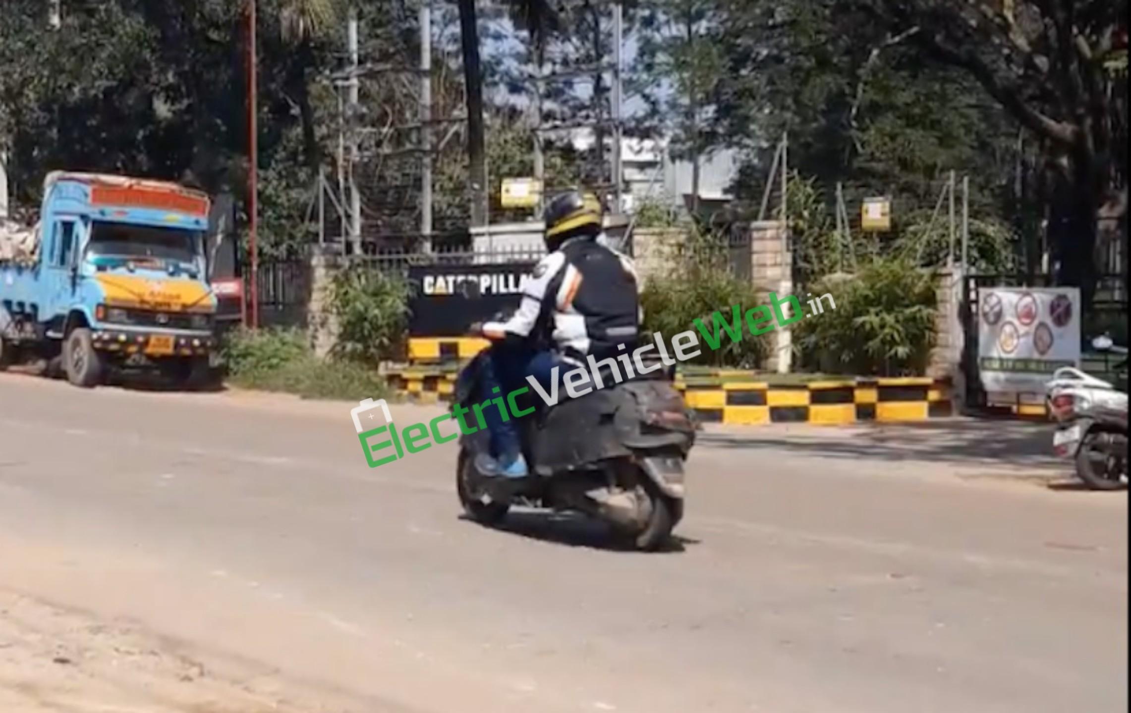 Purported TVS electric scooter TVS Creon side spyshot