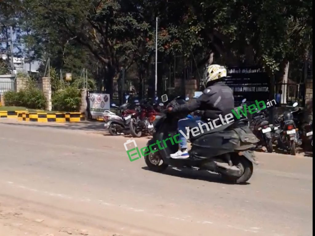 Purported TVS electric scooter TVS Creon spotted on test