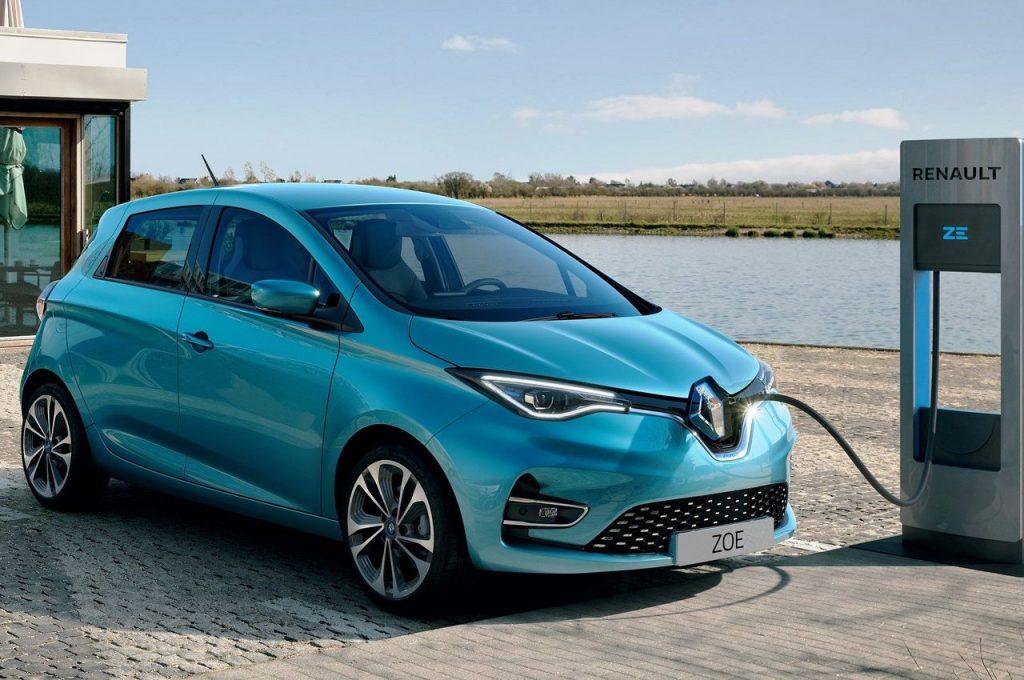 Renault Zoe EV charging